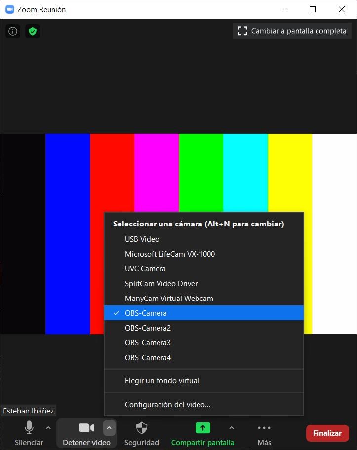 captura OBS zoom ajuste video