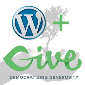 Logo wordpress y Give Cuadrado